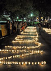 1000 candles for Peace in Hiroshima